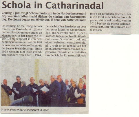 Schola in Catarinadal 7-06-2015